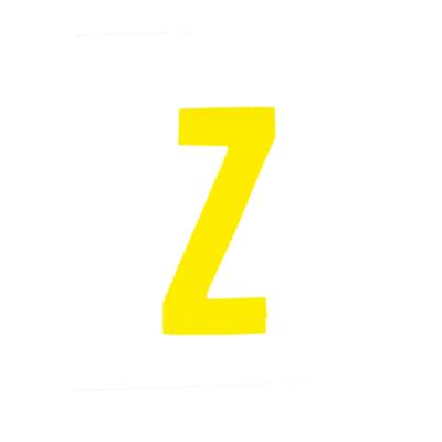 """Αυτοκόλλητο Γράμμα """"Ζ"""" Κίτρινο 2,5x3cm"""