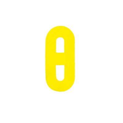 """Αυτοκόλλητο Γράμμα """"Θ"""" Κίτρινο 2,5x3cm"""