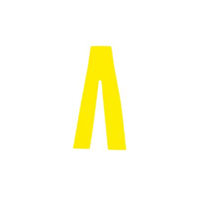 """Αυτοκόλλητο Γράμμα """"Λ"""" Κίτρινο 2,5x3cm"""