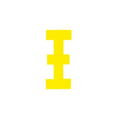 """Αυτοκόλλητο Γράμμα """"Ξ"""" Κίτρινο 2,5x3cm"""