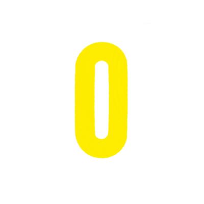 """Αυτοκόλλητο Γράμμα """"Ο"""" Κίτρινο 2,5x3cm"""
