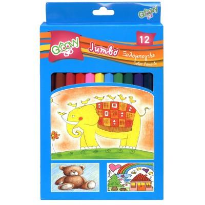 Groovy Ξυλομπογιές Jumbo 12 Χρώματα