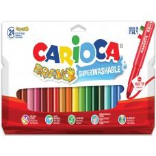 Μαρκαδόροι CARIOCA Bravo 24τμχ