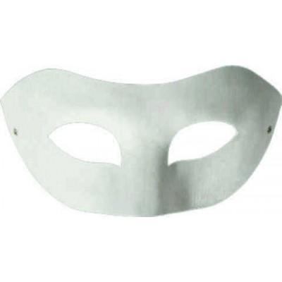 Αποκριάτικη Μάσκα Λευκή Χειροτεχνίας 18,5*7,5cm