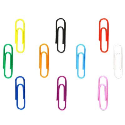 Συνδετήρες Μεταλλικοί Χρωματιστοί 28mm No3 (100 τεμάχια)