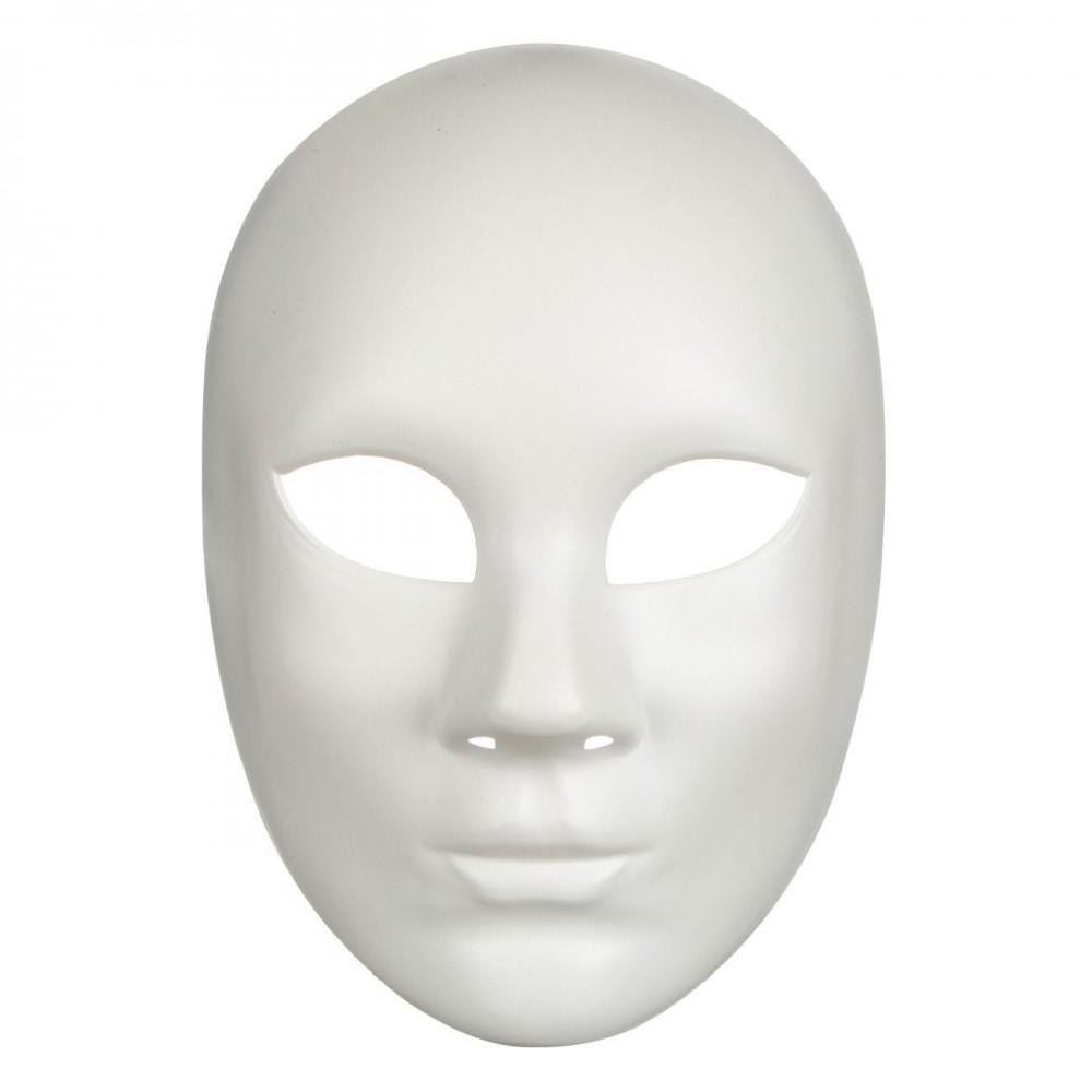 Αποκριάτικη Μάσκα Λευκή Χειροτεχνίας 15*22cm