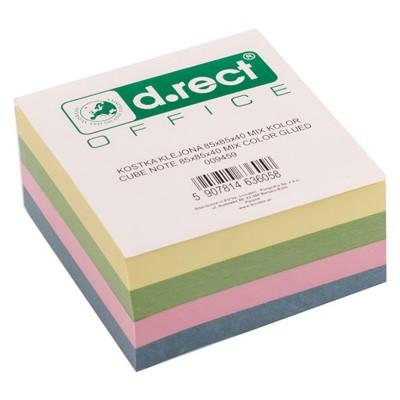 Χαρτάκια Χρωματιστά Κύβος 85x85mm D.RECT OFFICE