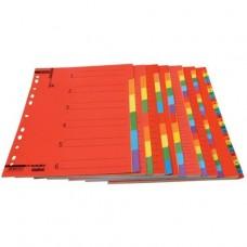 Διαχωριστικά Α4 Χρωματιστά Χάρτινα 24 Θέματα PAJORY