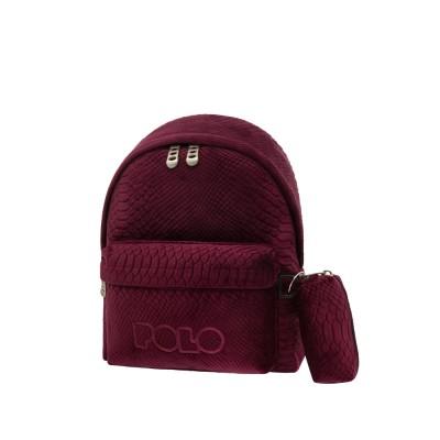Σακίδιο POLO MINI  Limited Edition Φίδι Μπορντώ 9-07-168-3300 (2021)