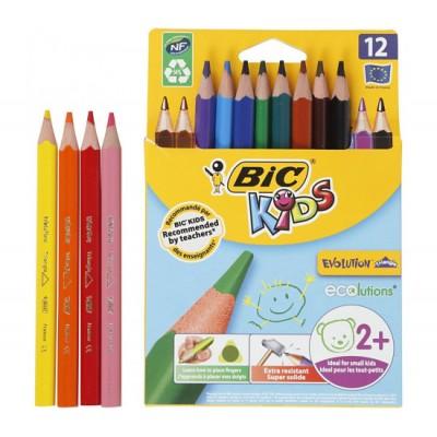 """Ξυλομπογιές BIC Kids """"Evolution"""" 12τμχ"""