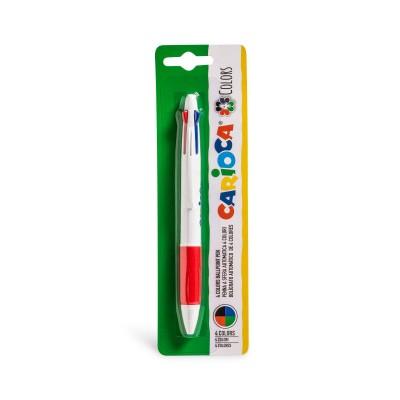 Carioca Στυλό 4 Χρωμάτων Ballpoint 1.00 mm