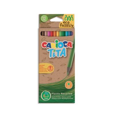 Carioca Ξυλομπογιές Tita Eco Family 12 Χρώματα