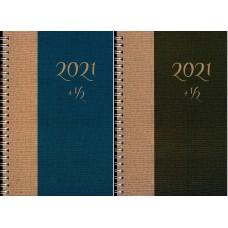 Ημερολόγιο Σπιράλ Εβδομαδιαίο 18 μηνών 2021+1/2 13.5x20.5 cm