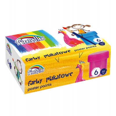 Fiorello Δαχτυλομπογιές 6 Χρώματα 20ml