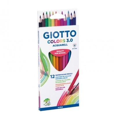 Giotto Ξυλομπογιές 3.0 Ακουαρέλας 12 Χρώματα