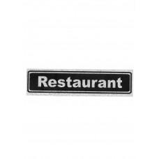 """Πινακίδα Σήμανσης """"Restaurant"""" 5x20cm"""