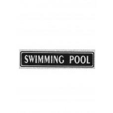 """Πινακίδα Σήμανσης """"Swimming Pool"""" 5x20cm"""