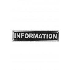 """Πινακίδα Σήμανσης """"Information"""" 5x20cm"""