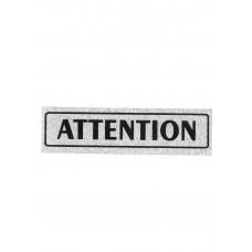 """Πινακίδα Σήμανσης """"Attention"""" 5x20cm"""