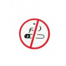 """Αυτοκόλλητο Σήμα """"No Smoking"""" 14cm"""