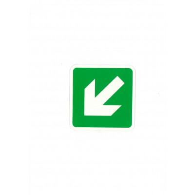 """Αυτοκόλλητο Σήμα """"Βέλος Κάτω Αριστερά"""" 10x10cm"""
