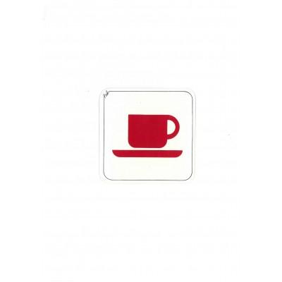 """Αυτοκόλλητο Σήμα """"Καφετέρια"""" 10x10cm"""