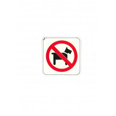 """Αυτοκόλλητο Σήμα """"Απαγορεύονται Τα Ζώα"""" 10x10cm"""