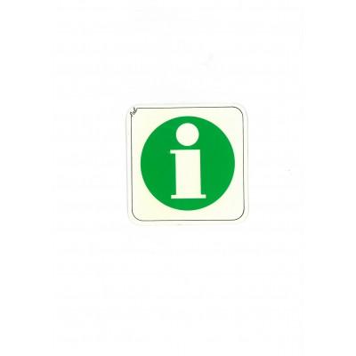 """Αυτοκόλλητο Σήμα """"Information"""" 10x10cm"""