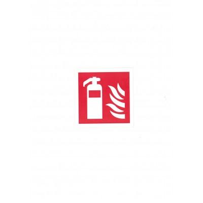 """Αυτοκόλλητο Σήμα """"Πυροσβεστήρας"""" 8,5x8,5cm"""