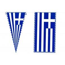Γιρλάντα Ελληνικές Σημαίες 6,5m 14x27cm