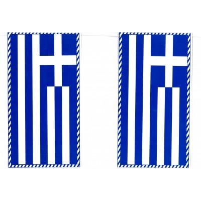 Γιρλάντα Ελληνικές Σημαίες 6,5m 15x7cm
