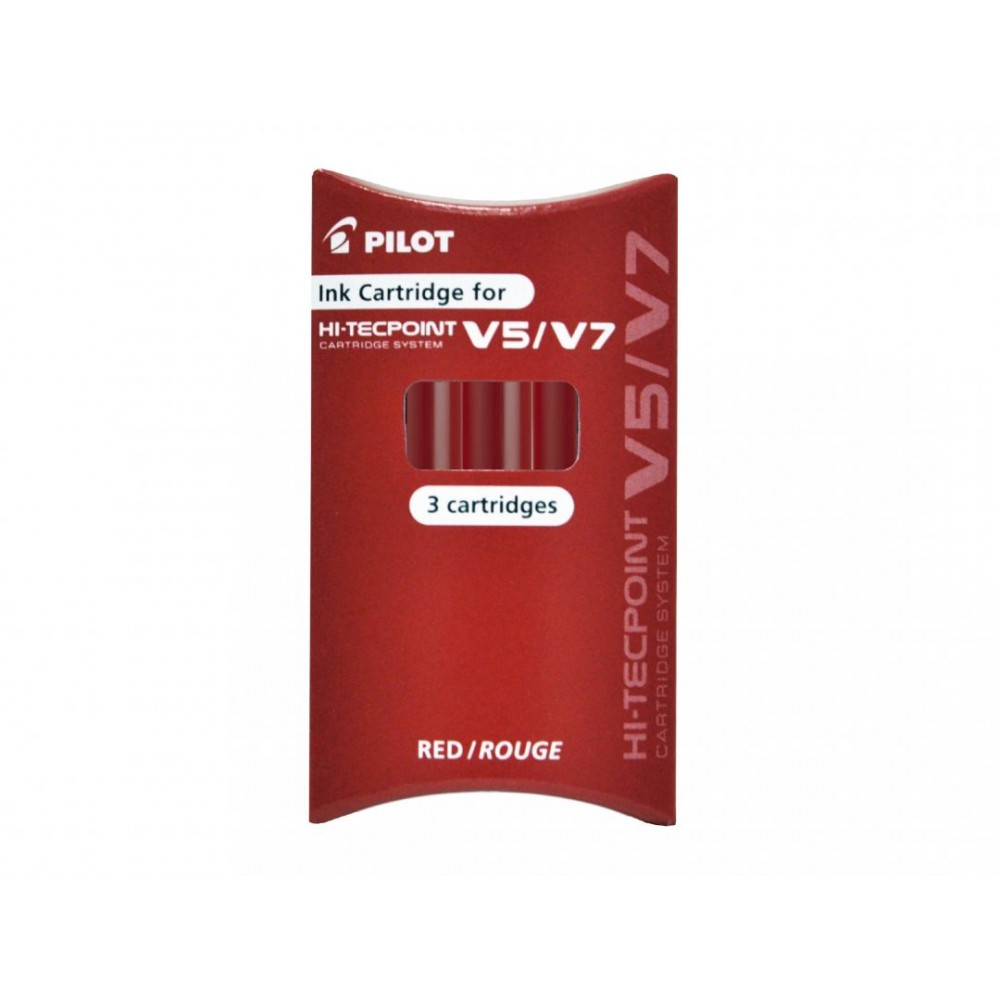 Pilot Αμπούλες μελάνης Hi-Techpoint V5-V7 Refillable Κόκκινο