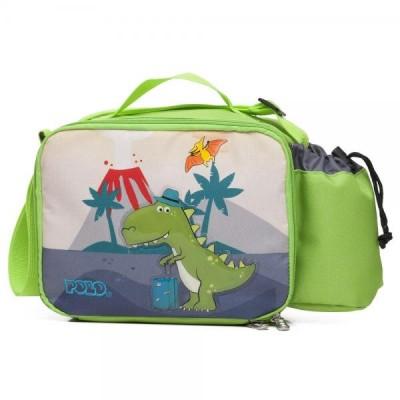 Τσάντα Φαγητού Νηπιαγωγείου POLO Animal Dinosaur 9-07-123-8036 (2020)