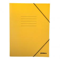 Ντοσιέ με Λάστιχο Πρεσπάν 25x35cm Κίτρινο