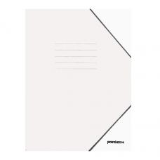 Ντοσιέ με Λάστιχο Πρεσπάν 25x35cm Λευκό