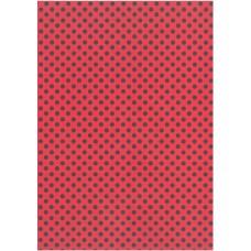Χαρτόνι Κάνσον Πουά Κόκκινο-Μαύρο 50x68cm 300gr