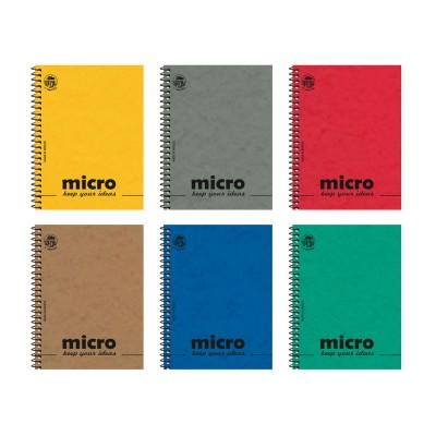 Μπλοκ Σημειώσεων Micro Σπιράλ Ριγέ 9x12