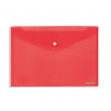Φάκελος με Κουμπί Πλαστικός Α4 Κόκκινος