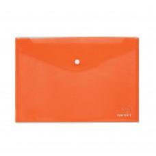 Φάκελος με Κουμπί Πλαστικός Α4 Πορτοκαλί