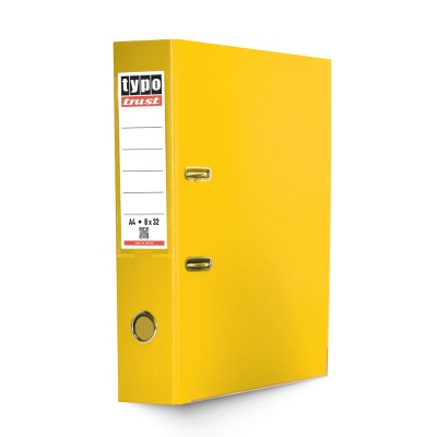 Typotrust Κλασέρ από Χαρτόνι με Πλαστική Επένδυση 8/32 Κίτρινο