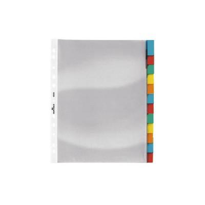 Διαχωριστικές Διαφάνειες Α4 Χρωματιστές Πλαστικές  DURABLE