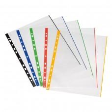 Διαφάνειες Α4 με άνοιγμα επάνω & Χρωματιστή Ράχη  (10 τεμ.)