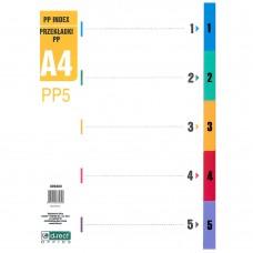 Διαχωριστικά Α4 Χρωματιστά Πλαστικά 5 Θέματα D.RECT