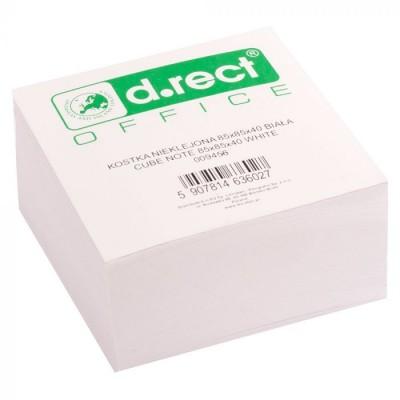 Χαρτάκια Λευκά Κύβος 85x85mm D.RECT OFFICE