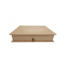 Κουτί Ξύλινο Χειροτεχνίας 21x17x4cm